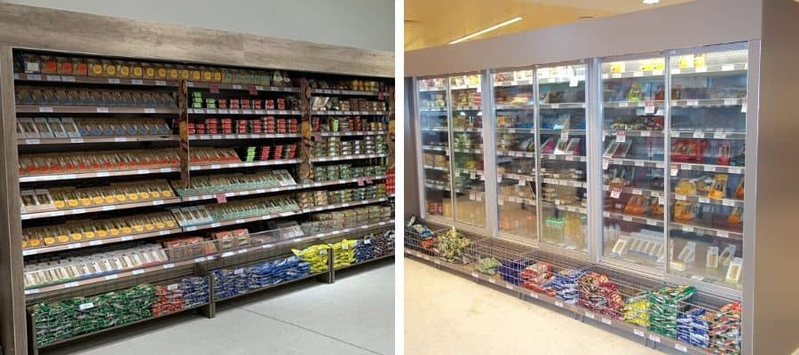Doors vs open fronted chilled display cases